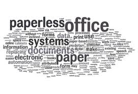 Paperless Office Concept